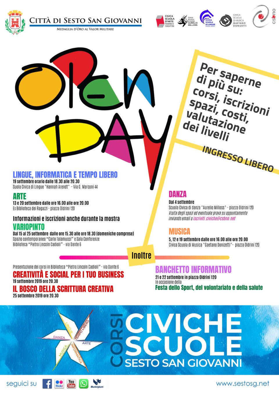open day scuole civiche sesto san giovanni